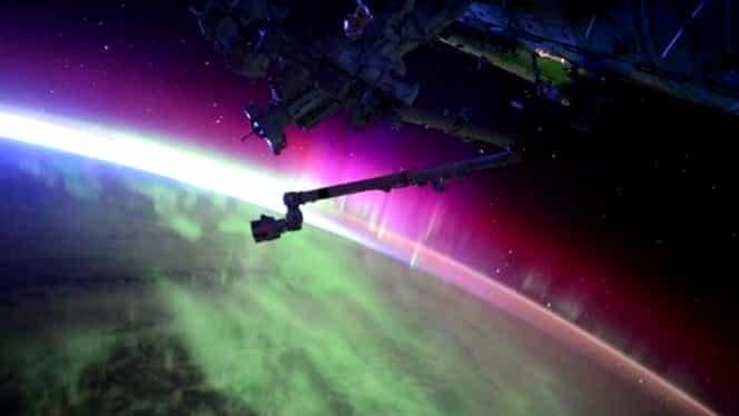 Imagini spectaculoase cu aurora boreală văzută din spaţiu GALERIE FOTO ŞI VIDEO