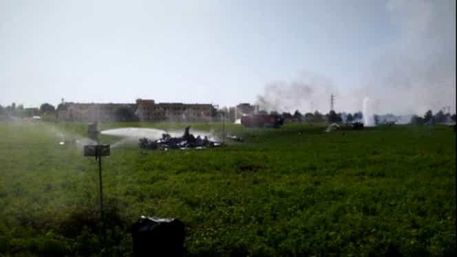 Accident aviatic pe un câmp petrolier din Libia!