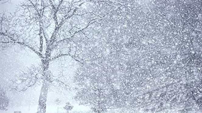 Avertizare meteo! Unde ninge în România