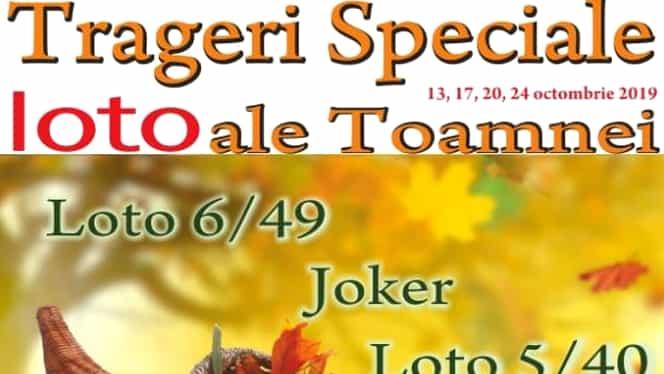 Loteria Română, anunţ de ULTIMA ORĂ! Trageri speciale ale toamnei pe 13, 17, 20 şi 24 octombrie