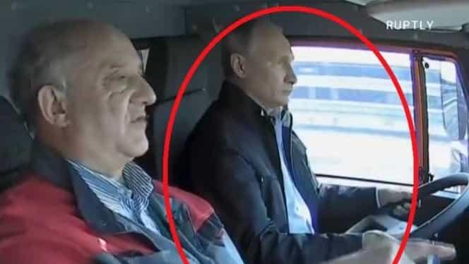 Vladimir Putin, surprins la volan fără centură! O lume întreagă l-a văzut!