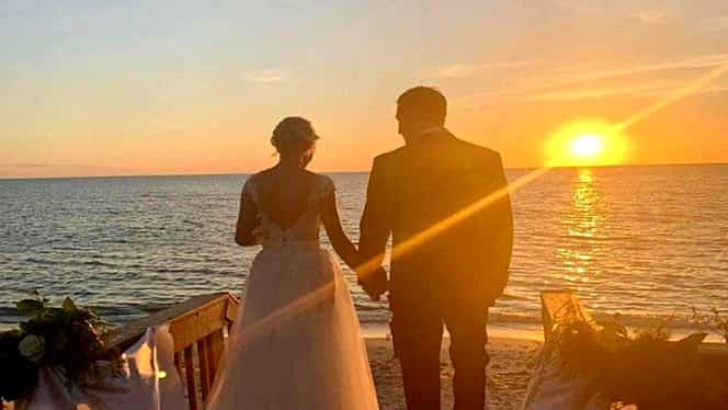 Catrinel Sandu, mireasă! Primele imagini cu vedeta în rochie albă, alături de soțul ei