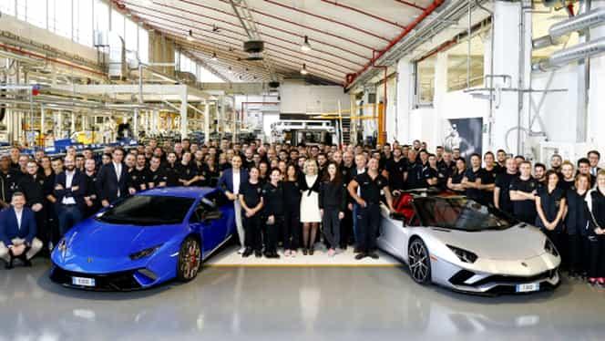 GALERIE FOTO. Sărbătoare la uzinele Lamborghini! Italienii au produs 7000 de modele Aventador şi 9000 de Huracan