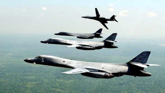 Bombardiere şi avioane de luptă deasupra Peninsulii Coreene