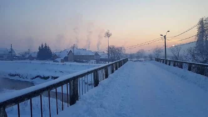 S-a înregistrat cea mai scăzută temperatură din iarna asta, la Întorsura Buzăului: -21,6 grade Celsius