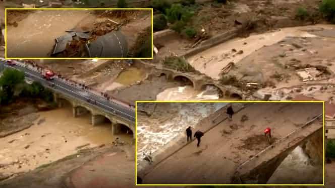 Mai multe victime făcute de inundațiile din Spania și Franța. A plouat în câteva ore cât în tot anul – FOTO