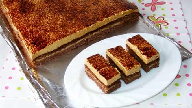 Rețeta zilei. Cum să prepari cea mai bună prăjitură cu cafea și cremă de vanilie