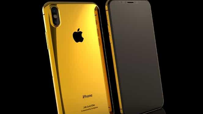 Ţi se pare scump iPhone X? Află cât costă versiunea de lux din aur masiv, încrustată cu diamante
