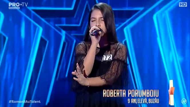 Lacrimi la Românii au talent! Roberta Porumboiu, o fată de 9 ani, i-a emoționat pe toți cu vocea ei – Video