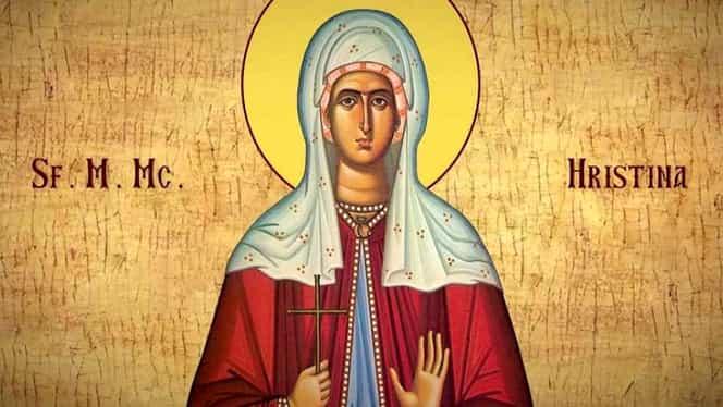 Calendar ortodox miercuri, 24 iulie 2019. Biserica o pomenește pe Sfânta Hristina