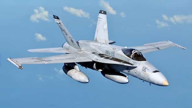 VIDEO. Avion de vânătoare F 18 prăbuşit în Spania! Pilotul a murit pe loc! Este al doilea accident în doar o săptămână