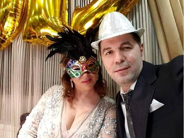 Mihaela Borcea și Sorin Rap au sărbătorit trecerea în noul an, la munte