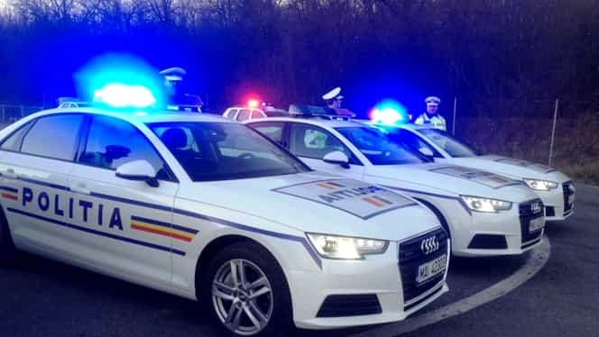 Incident dramatic în Argeş! Un şofer a intrat cu maşina în poliţişti!