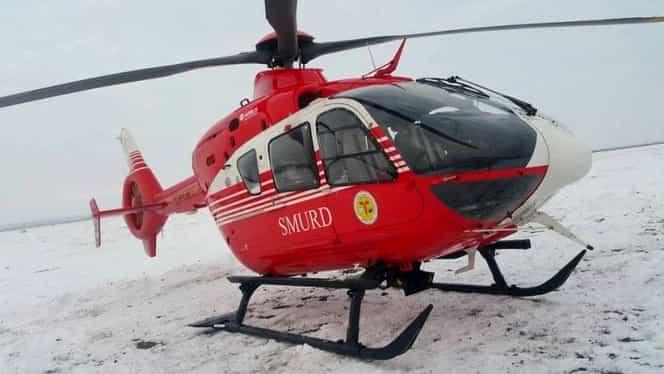 Copil rănit grav pe Pârtia Kalinderu din Bușteni! Băiatul de 5 ani, preluat de un elicopter SMURD