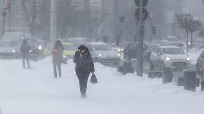 Vremea rea s-a abătut asupra României. Ninsorile și viscolul au pus stăpânire pe toată țara