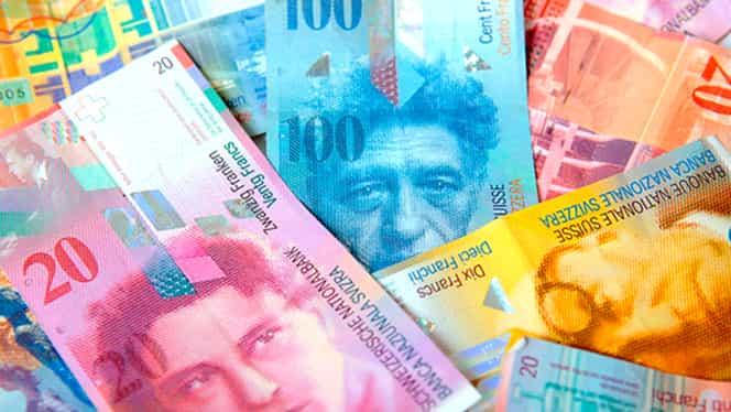 CURS BNR. Francul elveţian, nivel record faţă de EURO