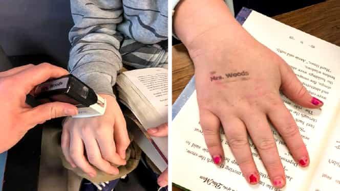 Metoda ingenioasă găsită de o profesoară pentru a le aminti elevilor să se spele des pe mâini. De notat!