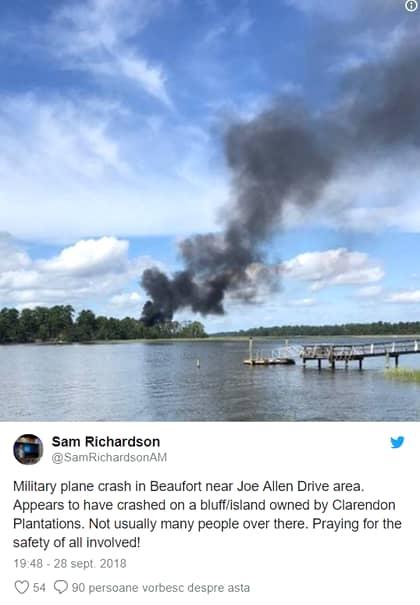 Avionul a atenrizat forțat la baza Beaufort, de unde s-au anunțat autoritățile de incident.