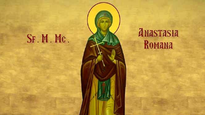 Mare sărbătoare mâine în calendarul ortodox. Multe femei îi poartă numele Sfintei mucenițe Anastasia