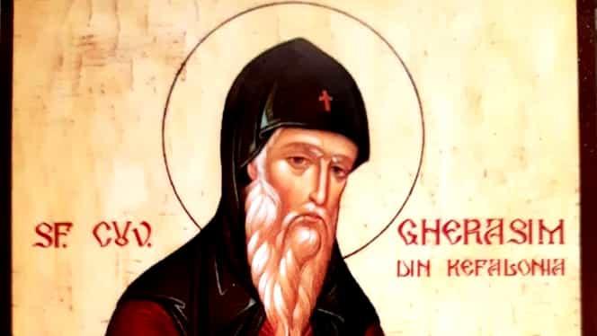 Calendar ortodox: duminică, 20 octombrie. Sfântul Gherasim din Kefalonia
