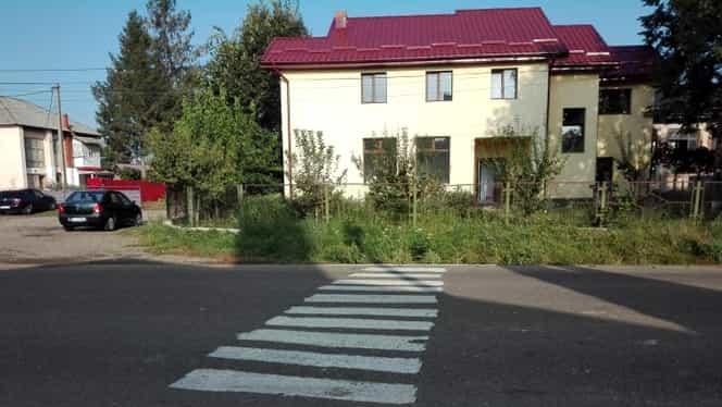 Un localnic din Botoșani și-a făcut trecere de pietoni. Omul este acum anchetat
