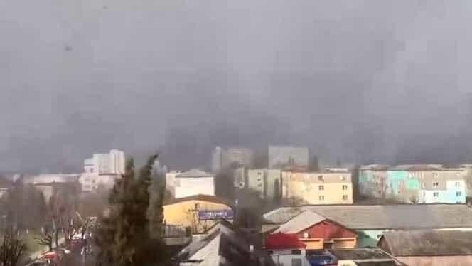 Fenomen meteo neobişnuit în Hunedoara. A nins cu tunete şi fulgere