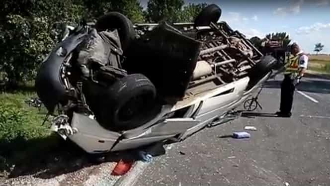 Încă un accident rutier cu români în Ungaria! 10 victime, după ce un microbuz înscris în România a intrat pe contrasens!