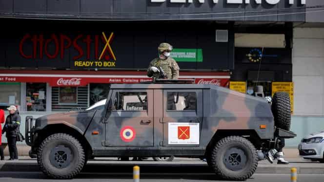 Armata a ieşit în orașele din România. Imagini ca din vremuri de război pe străzile Bucureştiului și Clujului, de neconceput în urmă cu o lună! VIDEO