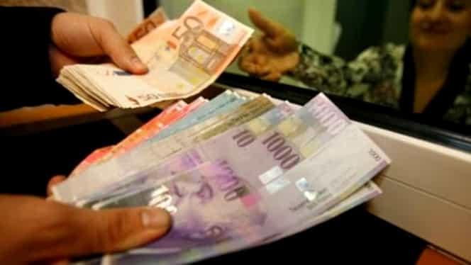 Euro scade, dolarul, francul şi aurul cresc la cursul BNR
