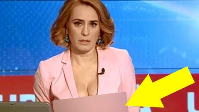 """Andreea Esca, cu un decolteu """"buclucaş"""" la pupitrul Ştirilor Pro TV! GALERIE FOTO  Imaginile pe care le aşteptau toţi românii!"""