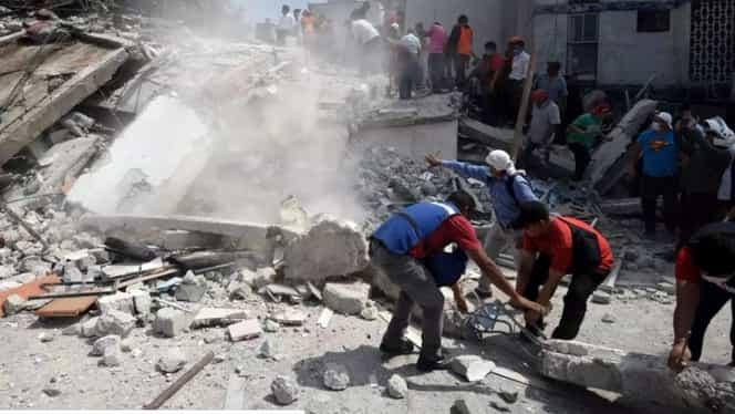Foto. Cutremur puternic în Mexic. S-a decretat stare de urgenţă