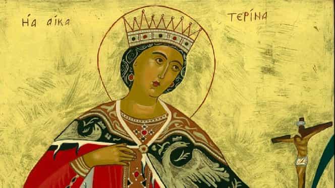 Rugăciune către Sfânta Ecaterina, pomenită pe 25 noiembrie. Mulți creștini o spun pentru a scăpa de necazuri