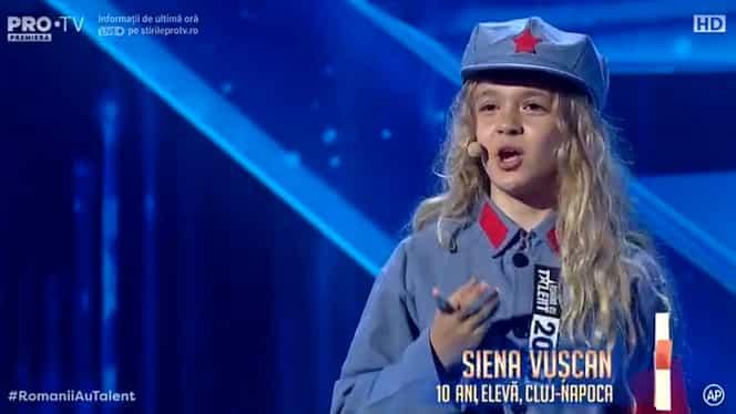Siena Vușcan a primit Golden Buzz de la Andra la Românii au talent! Clujeanca de 10 ani se simte mai degrabă chinezoaică – Video