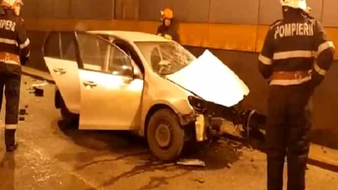 Accident grav, în Pasajul Obor din Capitală! Cinci mașini implicate, traficul blocat