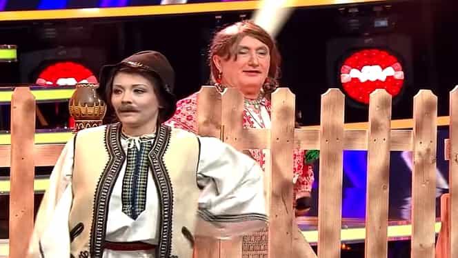 Ada şi Cornel Palade, moment inedit la Te cunosc de undeva. S-au costumat în Stela Popescu şi Alexandru Arşinel – VIDEO
