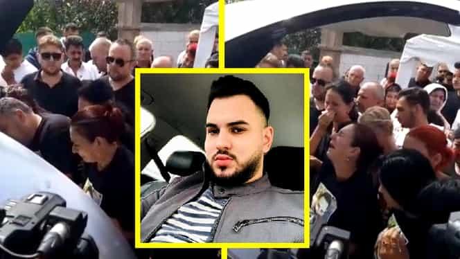Scene cutremurătoare la înmormântarea lui Dany Vicol. Mama tânărului, distrusă de durere lângă sicriu
