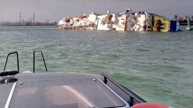 Toate leșurile de oi scoase din epava scufundată în Portul Midia! Anunț oficial al Administraţiei Porturilor Maritime Constanţa