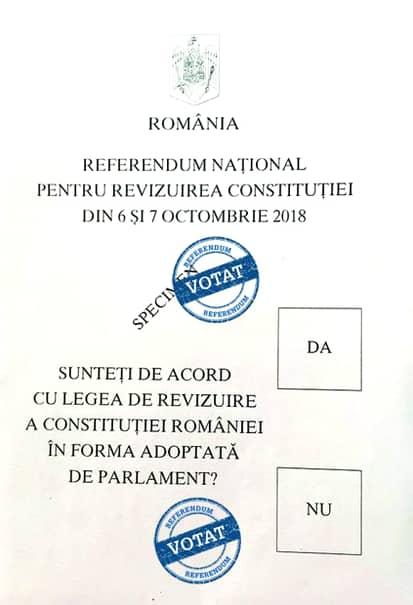 Așa arată un buletin de vot anulat, care nu poate fi validat