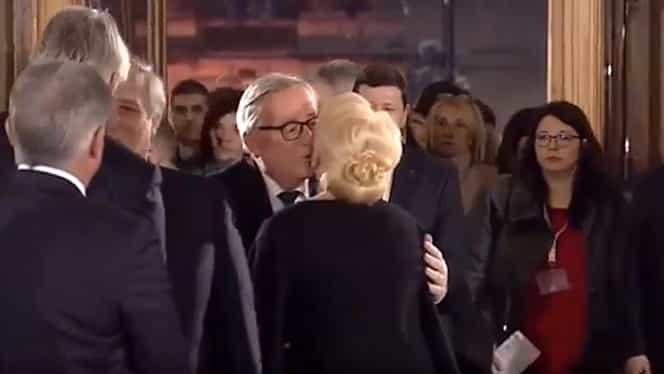Așa ceva nu se face! Jean-Claude Juncker, gest reprobabil la adresa Vioricăi Dăncilă