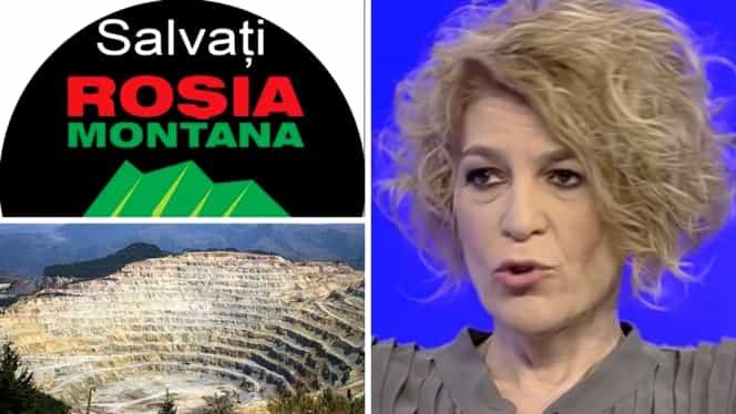 """Carmen Avram, despre Roșia Montană: """"Noaptea, ies cărucioare cu aur!"""""""