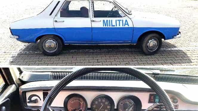 """GALERIE FOTO / O maşină de miliţie scoasă la vînzare pe internet: """"Are 11.000 de kilometri reali"""""""