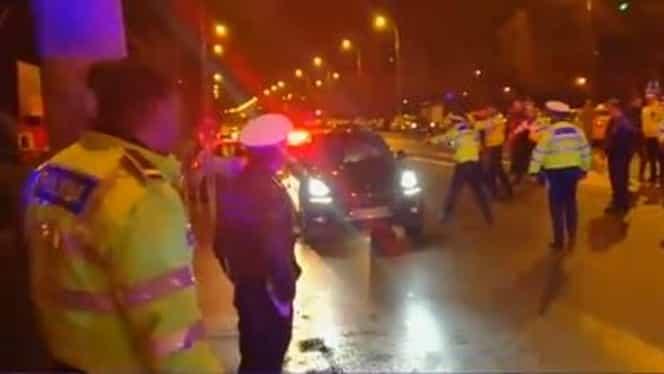 Un bărbat de bani gata din București a luat pe capotă un polițist! Pedeapsa record primită!
