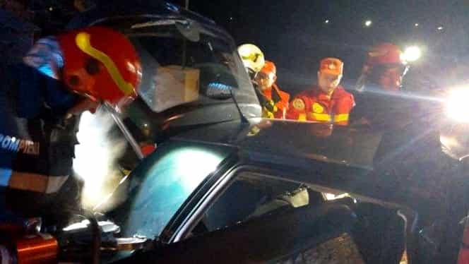 Accident cu 5 victime în județul Argeș! Șoferul se pare că a adormit la volan