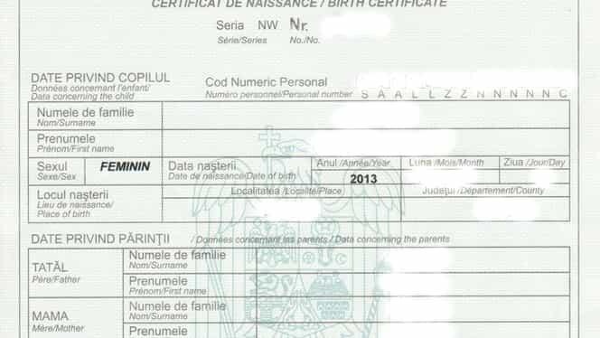Se schimbă certificatele de naștere. Care sunt modificările și ce trebuie să știe părinții
