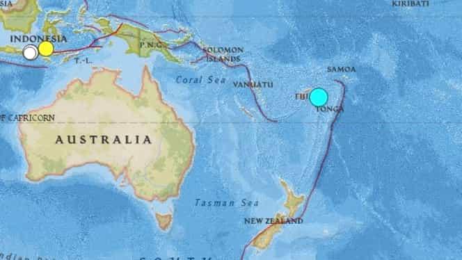 Cutremur de 6 grade în Oceanul Pacific, în apropiere de insula Tonga! Pericol de tsunami