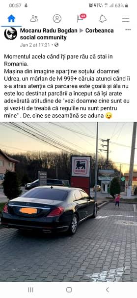 Bolidul lui Adrian Alexandrov a blocat parcarea într-un supermarket din Corbeanca