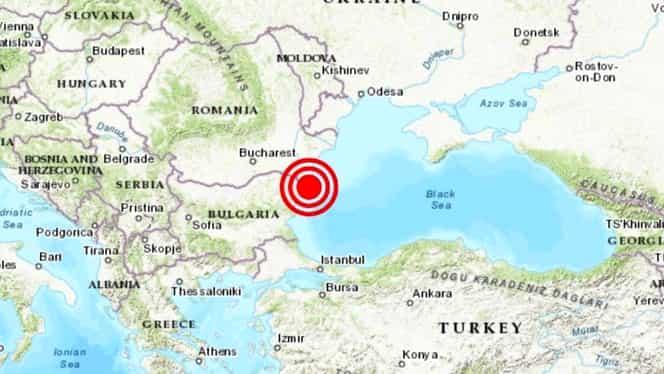 Alertă! Cutremur de suprafață în Marea Neagră! Seism important la 60 de km de Constanța