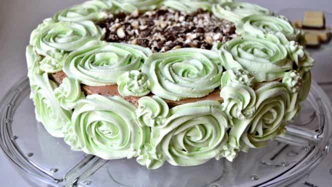 Rețeta zilei. Cel mai bun tort cu mentă și ciocolată albă