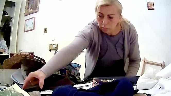 O îngrijitoare îi fură banii unei bătrâne și îi bagă în sutien VIDEO