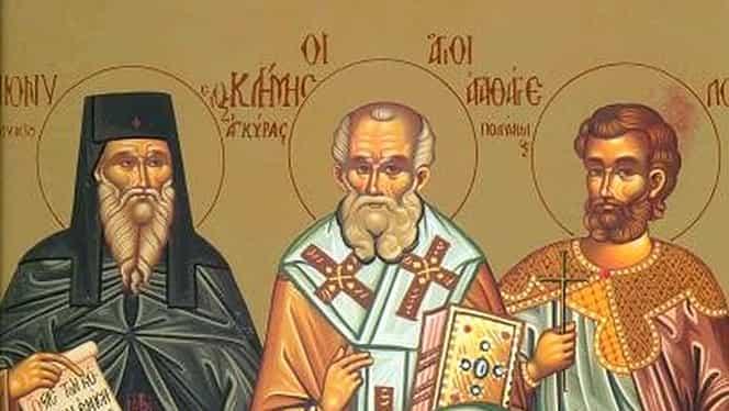 Calendar ortodox. Ce sfinţi sărbătorim sâmbătă, 24 noiembrie